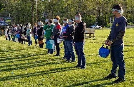 Blindfolded Adult Spring Egg Hunt 5:00 pm @Ridgewood Winery