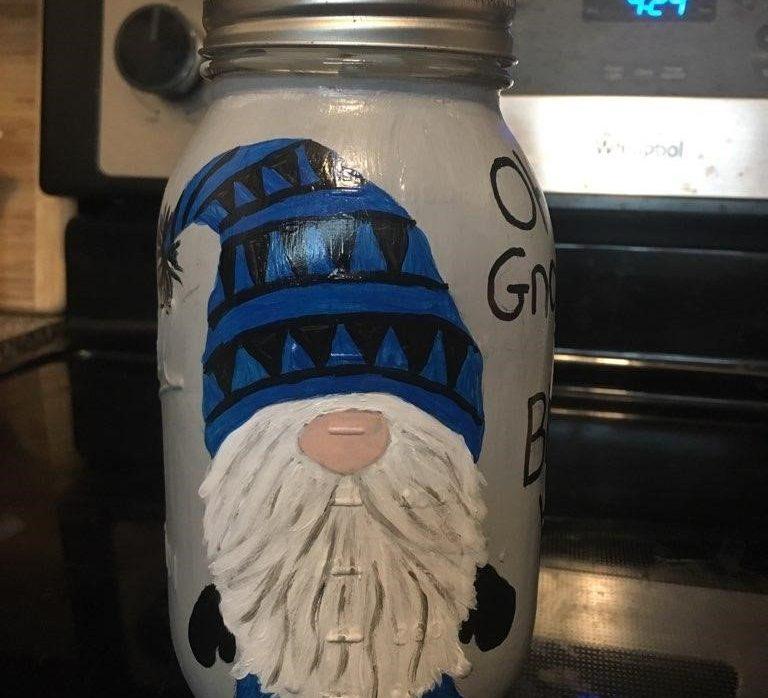 Gnome Jar Tissue/Utensil Holder Painting Class 3:00 pm@Ridgewood Winery Birdsboro
