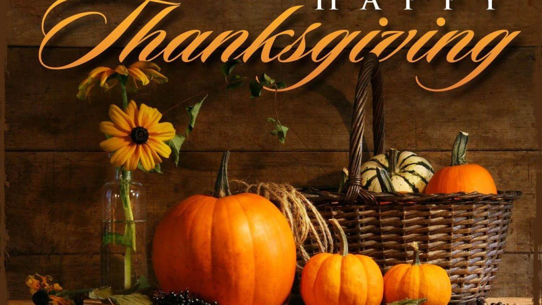 Tasting Room Closed – Happy Thanksgiving