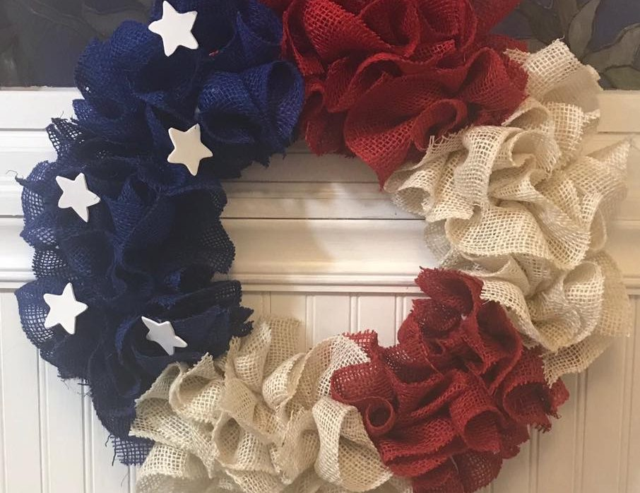 Patriotic Wreath Class @Ridgewood Winery