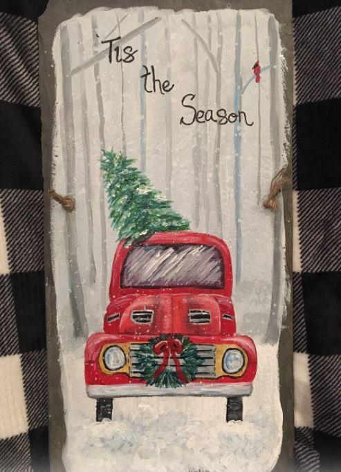 Red Truck Slate Painting Class 4:00 pm @Ridgewood Winery Bechtelsville