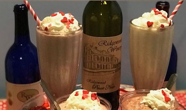 Valentines Wine Shakes and Wine Floats 5:30 pm @ Sweet Ride Ice Cream Parlor
