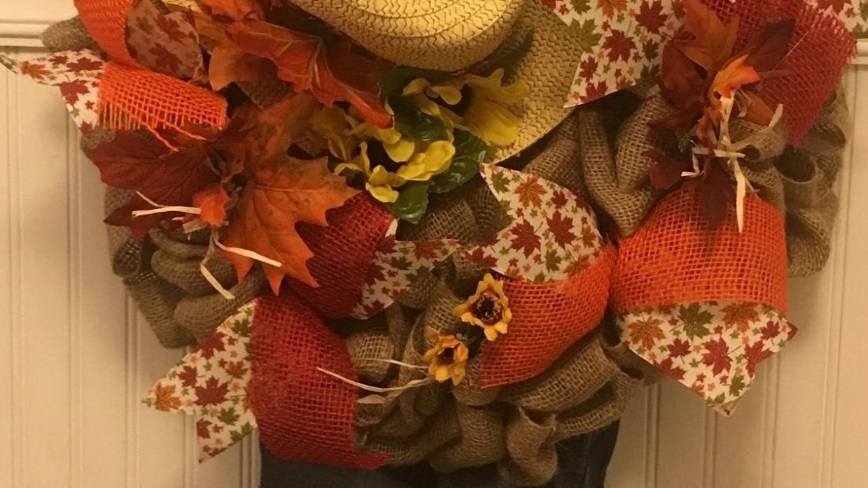 Scarecrow Wreath Class @Ridgewood Winery